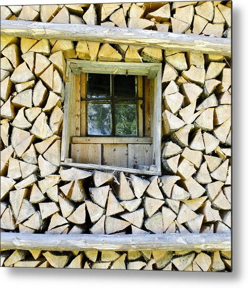 Firewood Metal Print featuring the photograph Firewood by Frank Tschakert