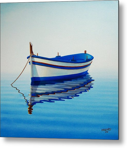 Fishing Metal Print featuring the painting Fishing Boat II by Horacio Cardozo
