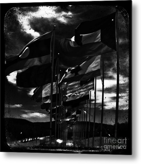 Admarshall Metal Print featuring the photograph Flags by AD Marshall