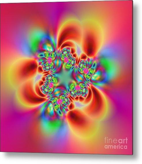 Colorful Metal Print featuring the digital art Flexibility 18bb by Rolf Bertram