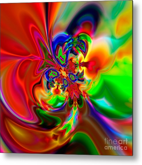 Abstract Metal Print featuring the digital art Flexibility 49ea by Rolf Bertram