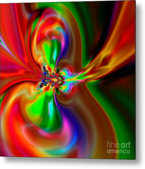 Abstract Metal Print featuring the digital art Flexibility 49fa by Rolf Bertram