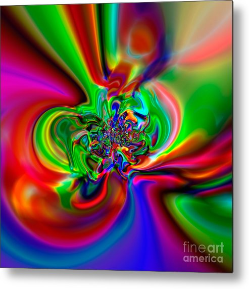 Abstract Metal Print featuring the digital art Flexibility 49h by Rolf Bertram