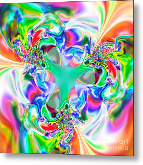 Abstract Metal Print featuring the digital art Flexibility 51ab by Rolf Bertram