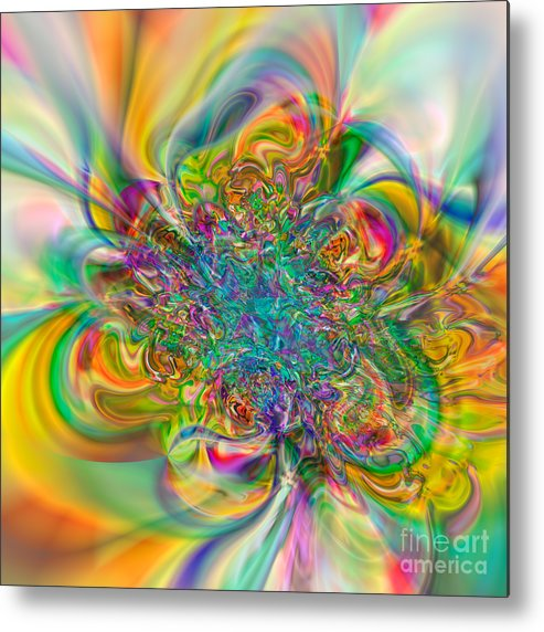 Abstract Metal Print featuring the digital art Flexibility 57abc by Rolf Bertram