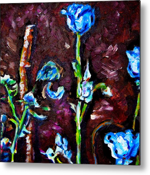 Floral Metal Print featuring the painting Flower Culture 197 by Laura Heggestad