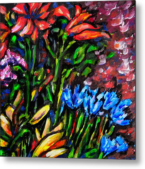 Floral Metal Print featuring the painting Flower Culture 213 by Laura Heggestad