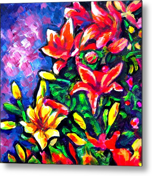 Floral Metal Print featuring the painting Flower Culture 297 by Laura Heggestad