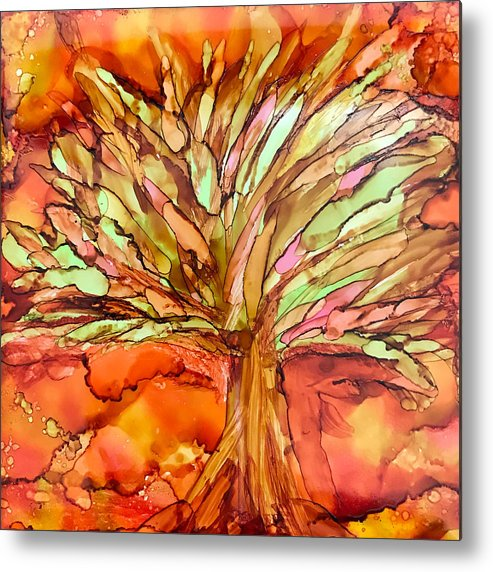 Fall Metal Print featuring the ceramic art Forever Autumn by Susi Schuele