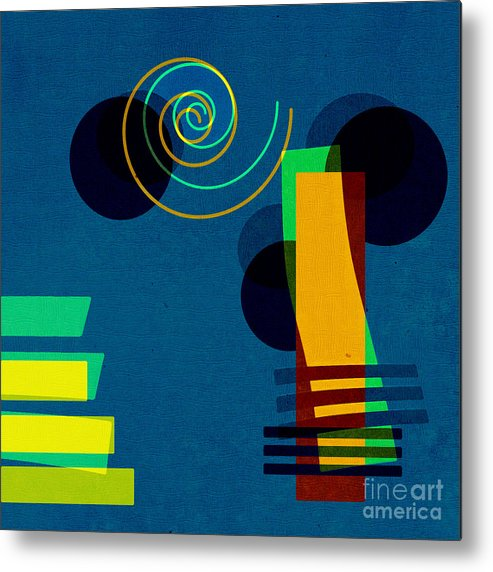 Abstract Metal Print featuring the digital art Formes - 03b by Variance Collections