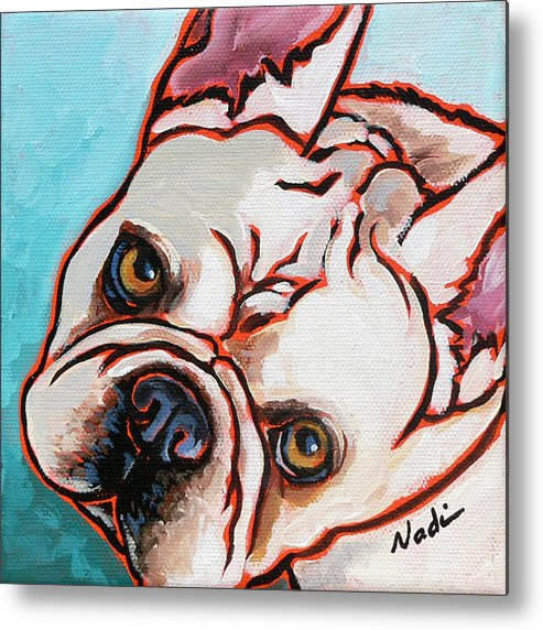French Bulldog Metal Print featuring the painting French Bulldog by Nadi Spencer
