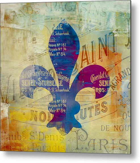Brandi Fitzgerald Metal Print featuring the digital art French Inspired Fleur De Lis by Brandi Fitzgerald