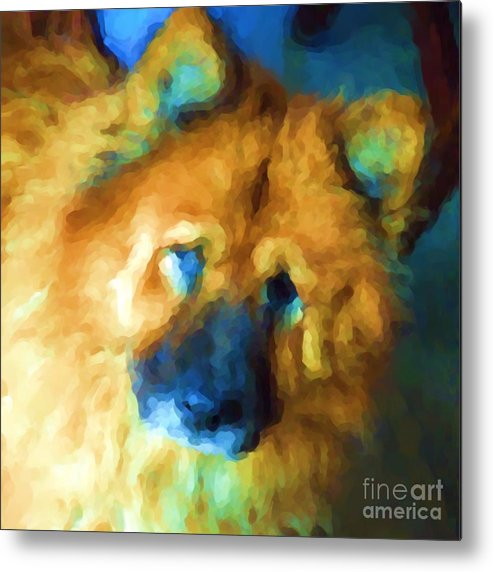 Chow Metal Print featuring the digital art Gabby by Kathi Shotwell