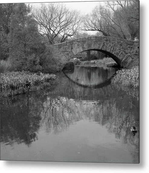 Square Metal Print featuring the photograph Gapstow Bridge - Central Park - New York City by Holden Richards