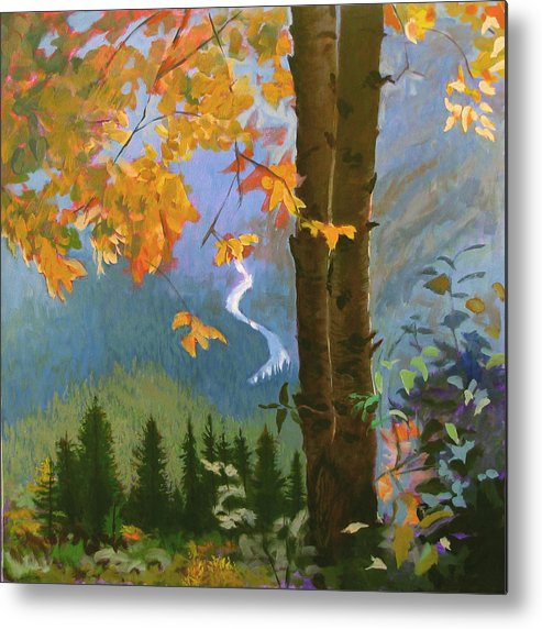 Glacier Metal Print featuring the painting Going To The Sun by Robert Bissett