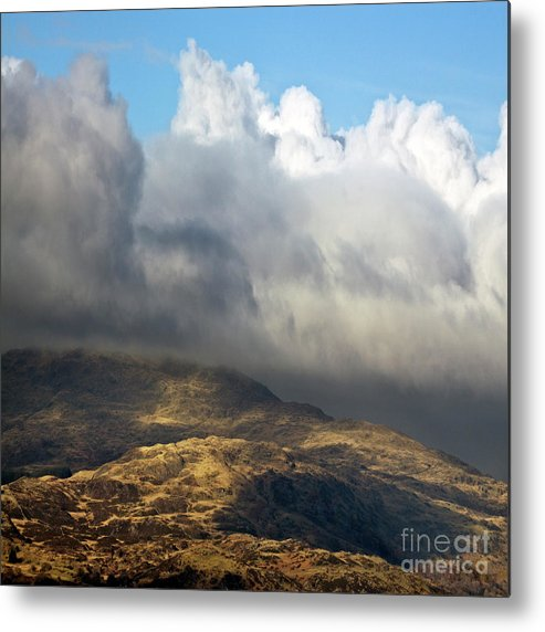 Great Britain Metal Print featuring the photograph Golden Mountains by Angel Ciesniarska