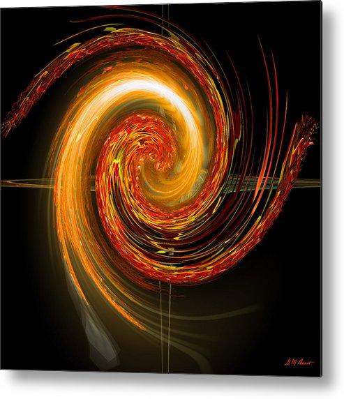 Eastern Metal Print featuring the digital art Golden Swirl by Michael Durst