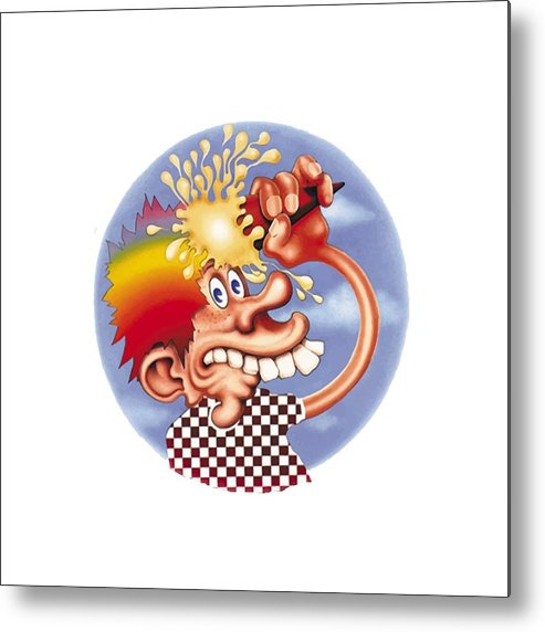Steal Your Face Metal Print featuring the digital art Grateful Dead Europe 72' by Gd