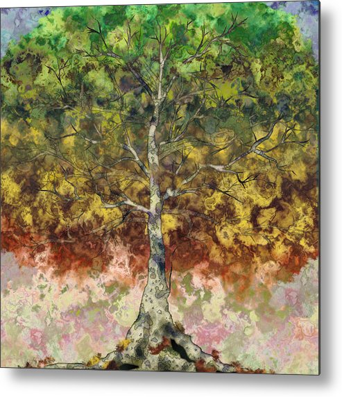 Sycamore Metal Print featuring the digital art Great Sycamore by Gae Helton