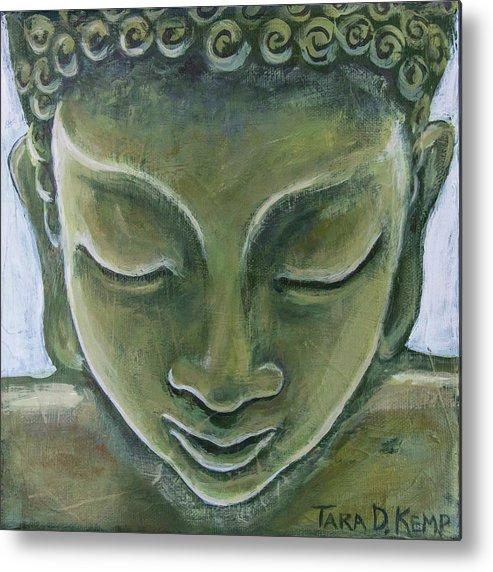 Tara Metal Print featuring the painting Jade Buddha by Tara D Kemp