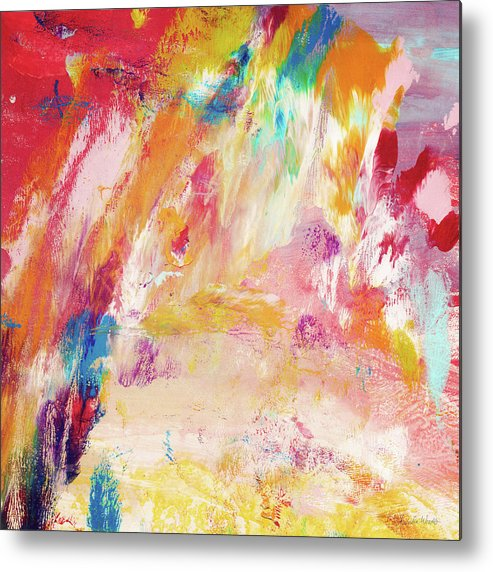Abstract Painting Metal Print featuring the painting Happy Day- Abstract Art By Linda Woods by Linda Woods