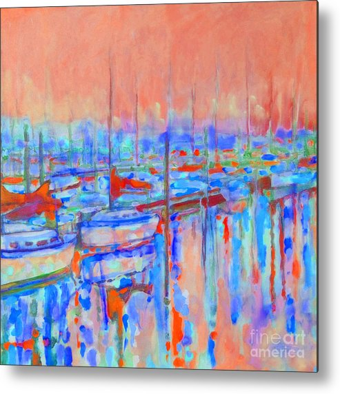 Harbor Metal Print featuring the painting Harbor Sunrise Eight Am by Kip Decker