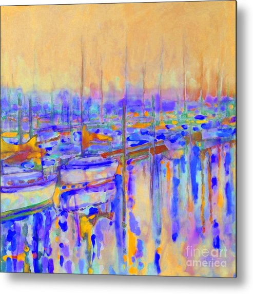 Harbor Metal Print featuring the painting Harbor Sunrise I   Six Am by Kip Decker