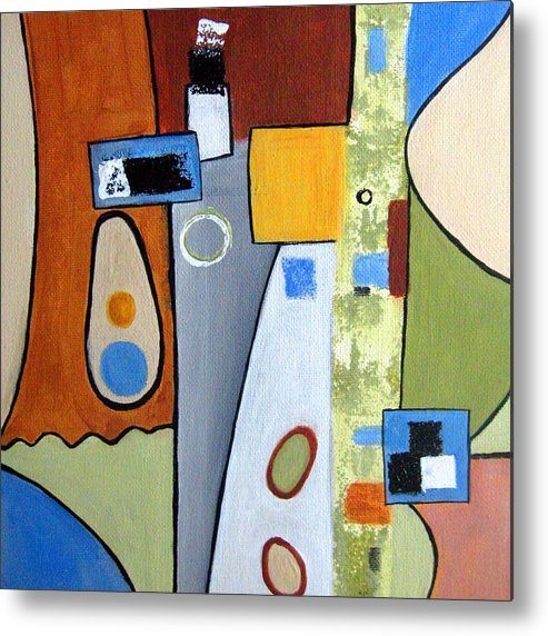 Abstract Metal Print featuring the painting Headspin II by Ruth Palmer