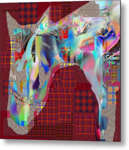 Abstract Metal Print featuring the digital art Horse 2 by Dave Kwinter