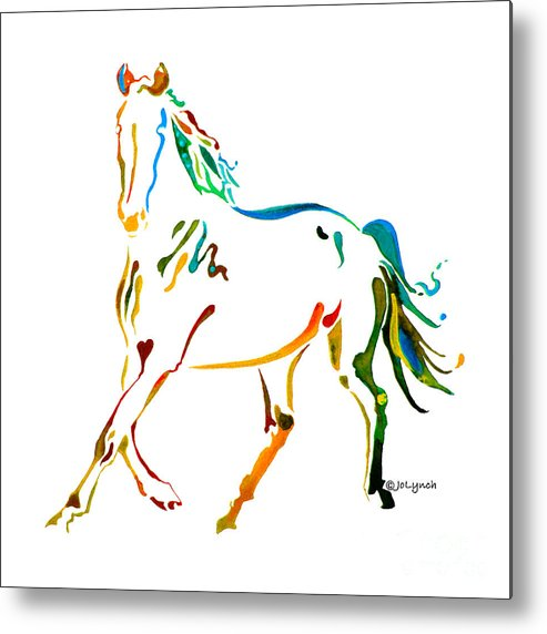 Horse Metal Print featuring the painting Horse Of Many Colors - 2 by Jo Lynch