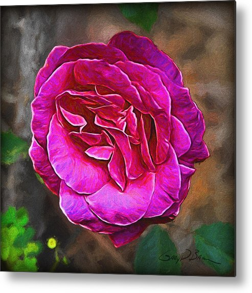 Flower Metal Print featuring the painting Hot Pink by Gary D Baker