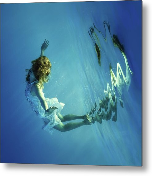 Girl Metal Print featuring the photograph I Can Fly by Dmitry Laudin