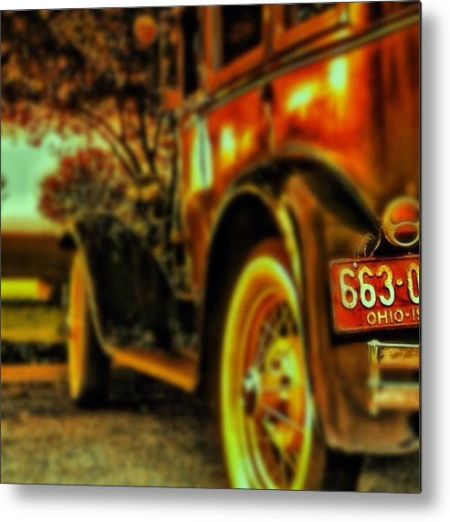 Popularpic Metal Print featuring the photograph I Love This #classiccar Photo I Took In by Pete Michaud