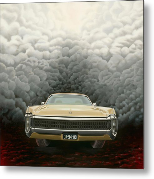 Surreal Metal Print featuring the painting Imperial by Patricia Van Lubeck