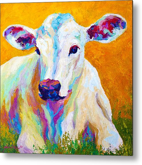 Cows Metal Print featuring the painting Innocence by Marion Rose