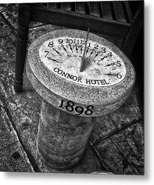 Sundial Metal Print featuring the photograph It Is What It Is by HE Webb