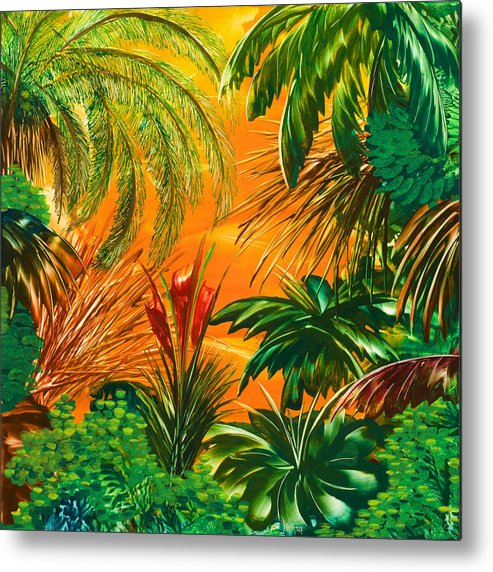 Jungle Metal Print featuring the painting jamaica III by Danita Cole