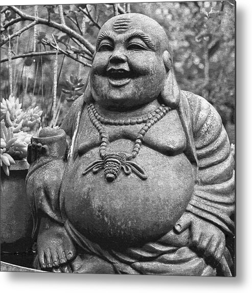 Happy Metal Print featuring the photograph Joyful Lord Buddha by Karon Melillo DeVega