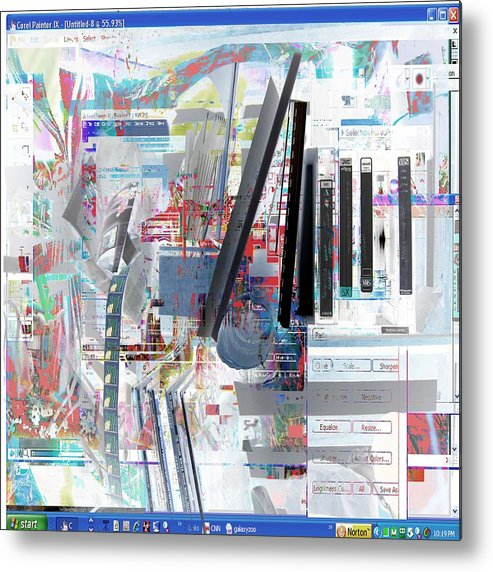 Abstract Red Blue Yellow Purple Metal Print featuring the digital art jvc by Dave Kwinter
