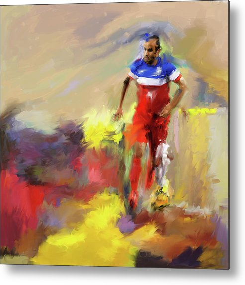 Football Metal Print featuring the painting Landon Donovan 545 1 by Mawra Tahreem