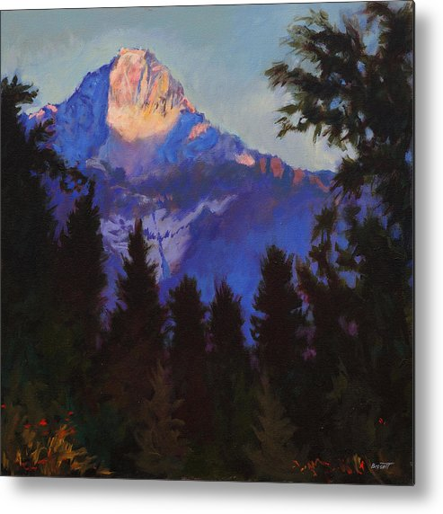 Glacier Metal Print featuring the painting Last Rays by Robert Bissett