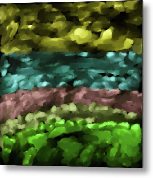 Abstract Metal Print featuring the digital art Layers #g8 by Leif Sohlman