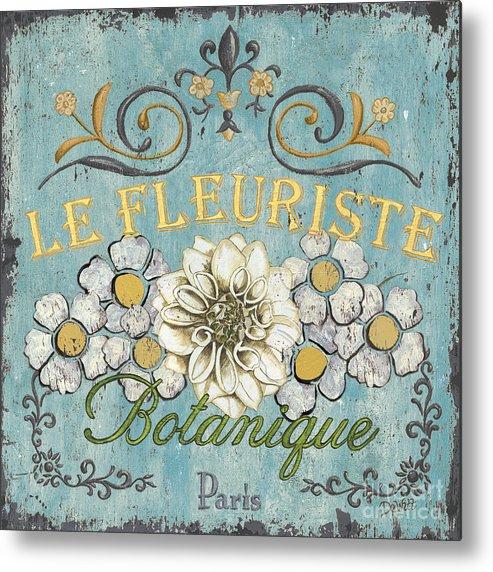 Flowers Metal Print featuring the painting Le Fleuriste De Botanique by Debbie DeWitt