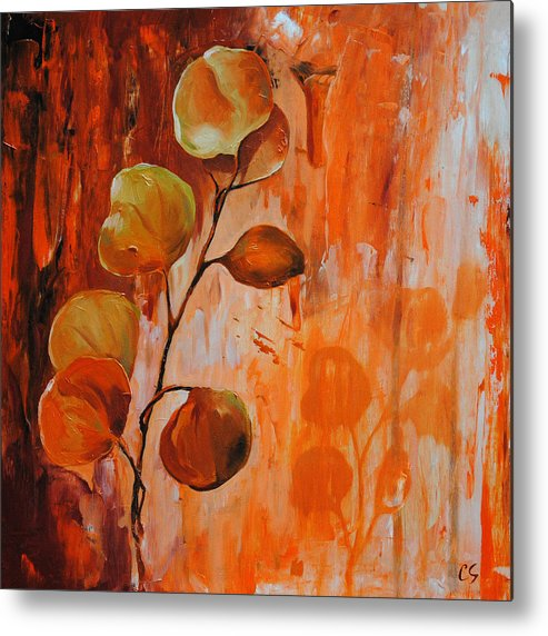 Leaves Metal Print featuring the painting Leaves1 by Chris Steinken