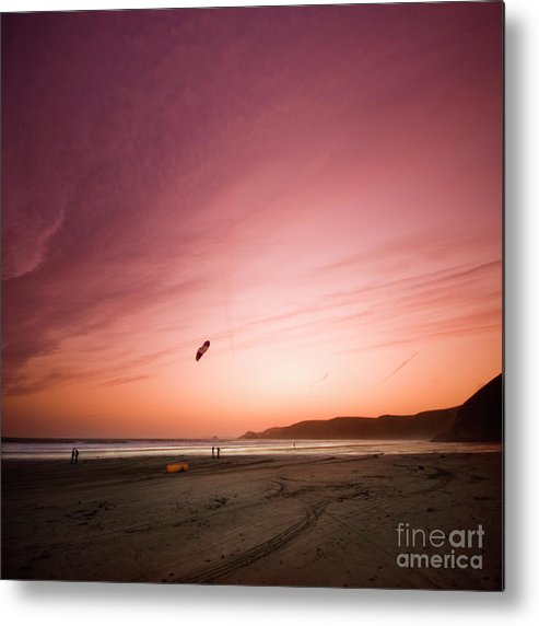 Kite Metal Print featuring the photograph Lets Go Fly A Kite by Angel Ciesniarska