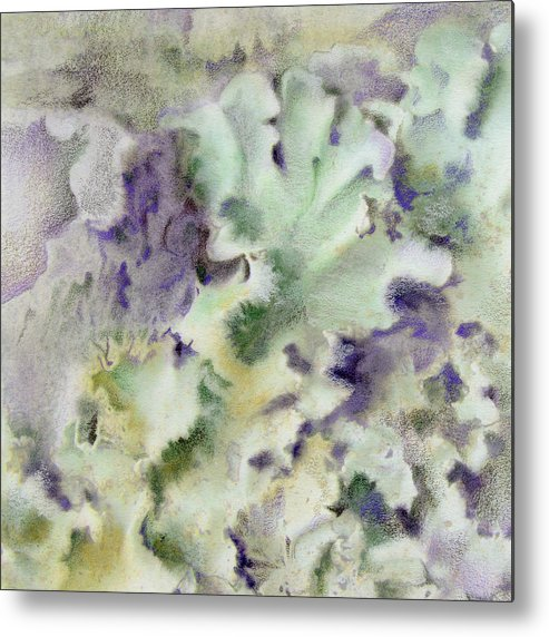 Lichen Metal Print featuring the painting Lichen by Mindy Lighthipe