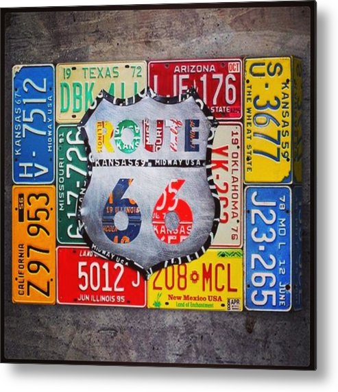 Route66 Metal Print featuring the photograph Limited Time Promotion In #october On by Design Turnpike