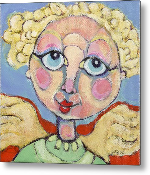 Acrylic Metal Print featuring the painting Little Angel by Michelle Spiziri