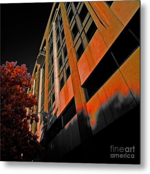 Balkony Metal Print featuring the photograph Lonely Balkony Infrared Color 80 by Rolf Bertram