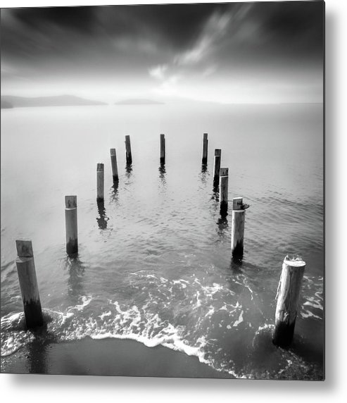 Fine Metal Print featuring the photograph Long Silence by Zapista